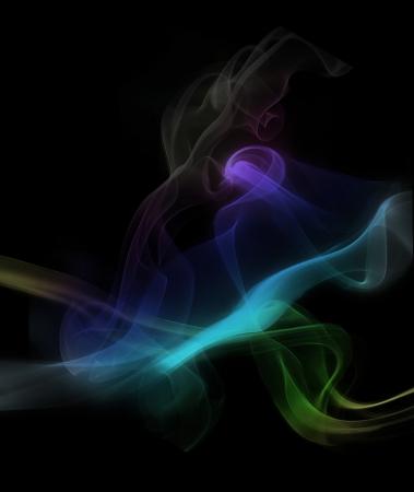 specrum abstract smoke on black background