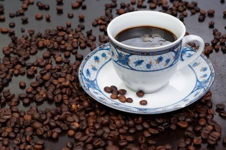 aromatic black lighting arabic coffee background