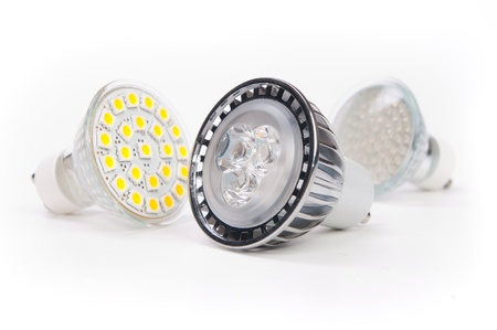 three lamps led of new generation