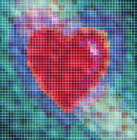 love sign with more colore cube Stock Photo - 18730129