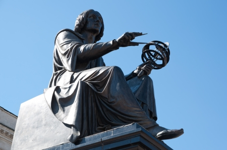 Monument of Nicolaus Copernicus in Warsaw Stock Photo