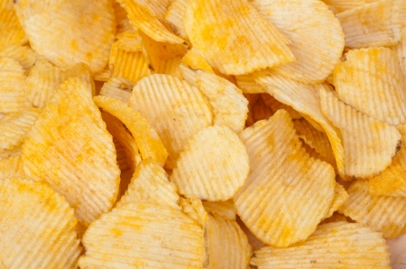 channeled: composition of potato chips - background