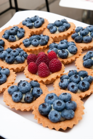 cookies of the babe with bilberries and raspberries photo
