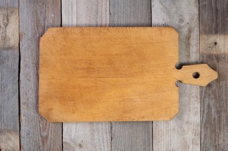 cutting board on old wood Stock Photo