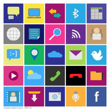 set of icons in the style tablet about straight sublimated shapes - vector graphic Illustration