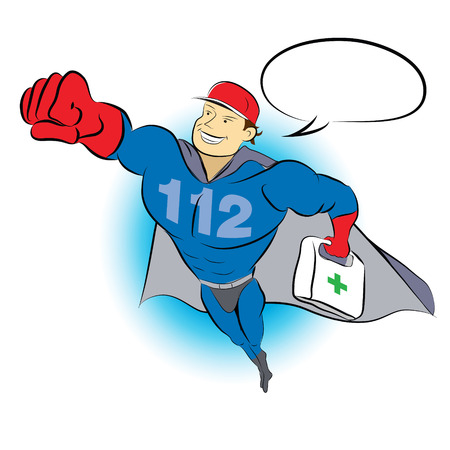 firstaid: 112 Man - flying superhero medical lifeguard