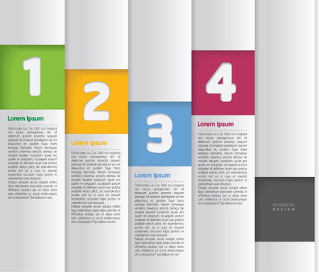 Set white vertical infographic element fordesigns  Vector