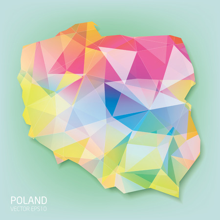 Poland color map in daimond style