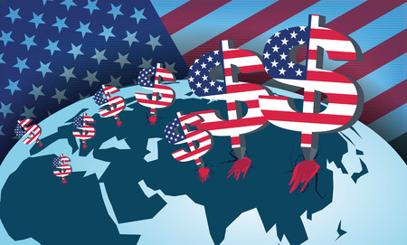 Predatory American capital. A total domination of America on the world in financial terms.