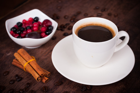 capuchino: Cup of cofee in brown style