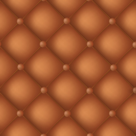 forniture: Cuero del oro de Brown con textura de fondo con los botones - ilustraci�n. Vectores