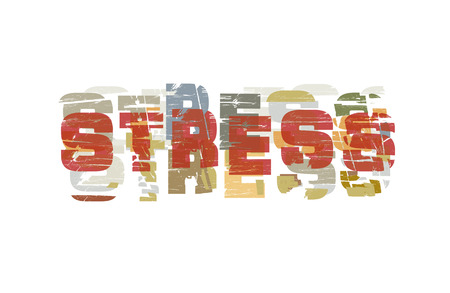 stressed people: stressed the symbolism of the people - the inscription junk style Illustration