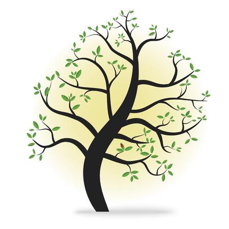 Eco tree sign - vector design element