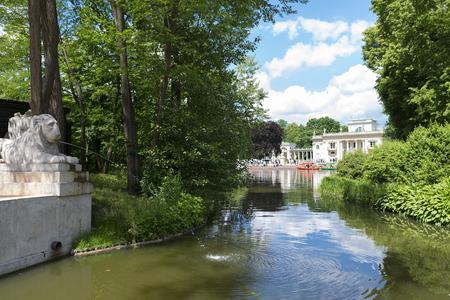 Lazienki park - Royal Baths Park in Warsaw Stock Photo