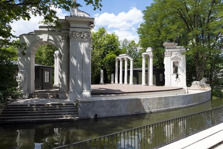 Lazienki park - Royal Baths Park in Warsaw Editorial