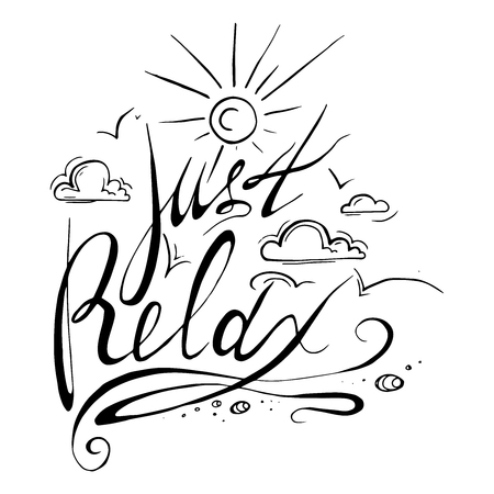 Vector font composition. lettering, black and white