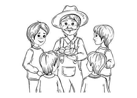 peasant with boys