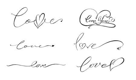 lettering love Ilustrace