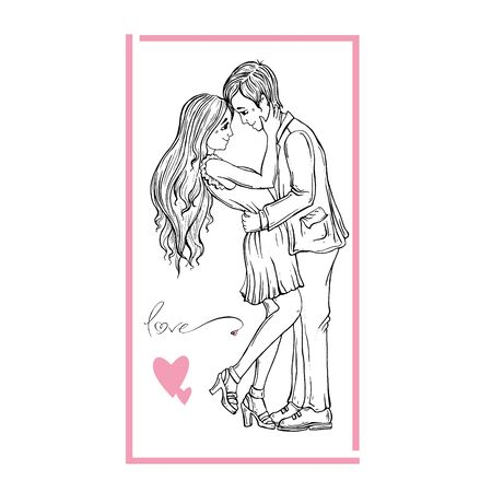 Happy Valentines Day Card Ilustrace