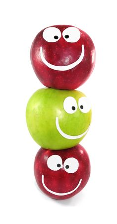 command: Apples-smilies symbolise themselves a command