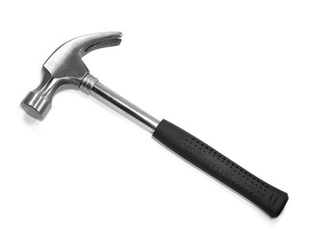 Hammer isolated on a white background photo