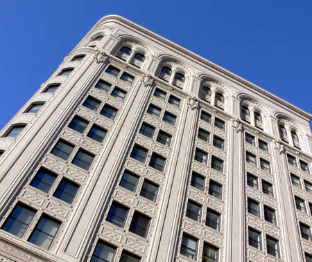 Shot of an old building in Winnipeg, taken from the bottom up.