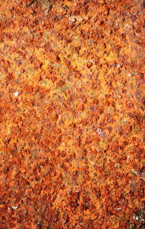 Macro of rough rusty metal