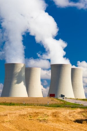 nuclear power plant: Nuclear Power Plant  in Temelin in the Czech Republic During a Beautifull Summer Day