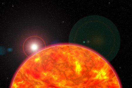 luminary:  background sun and stars