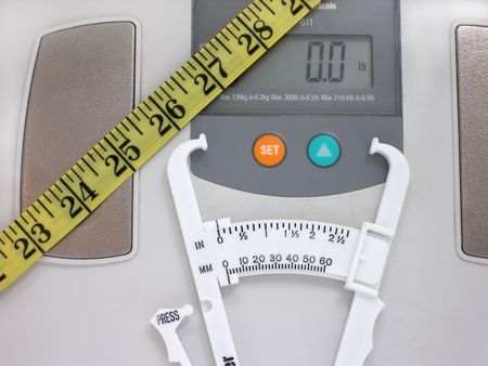 scale,calipers and tape measure Stock fotó