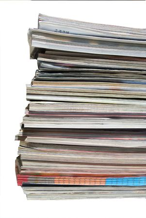 journalistic: stack of magazines Stock Photo