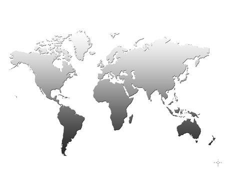 de wereld in zwart-wit Stockfoto