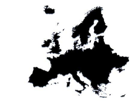 europeans: map of europe Stock Photo