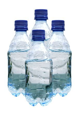 bottle of waters on white