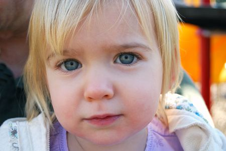 little girl outside Stock Photo - 2331678