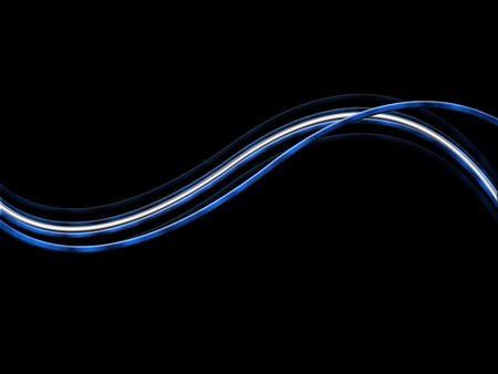 distort: abstract blue lines Stock Photo