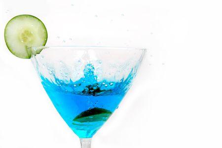 martini splash: martini splash with olive