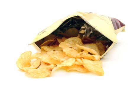 chips: bag of potato chips Stock Photo