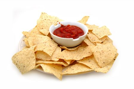chips and salsa: chips and salsa