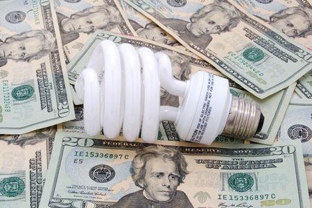 lightbulb and money