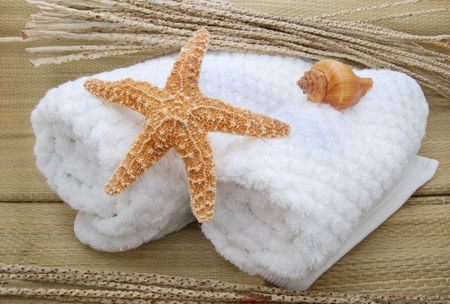 towels and shells