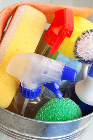 cleaning supplies: cleaning supplies