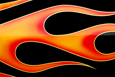 painted flames on car Stock Photo - 3691143