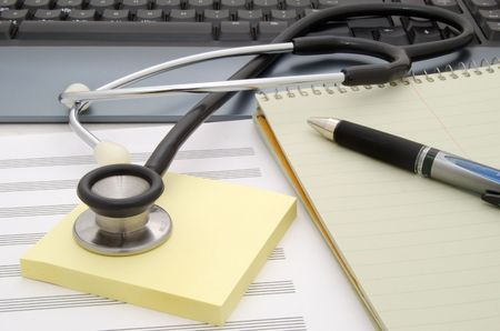 stethoscope on desk Stock Photo - 3824539