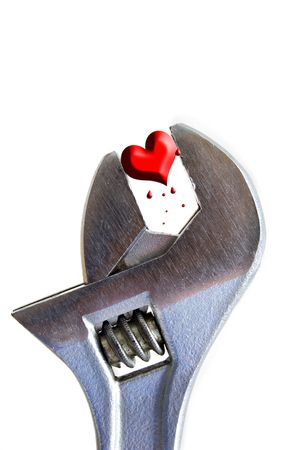 crescent: crescent wrench and heart