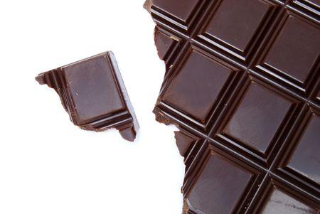 half of a chocolate bar photo