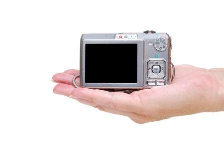 hand holding camera photo