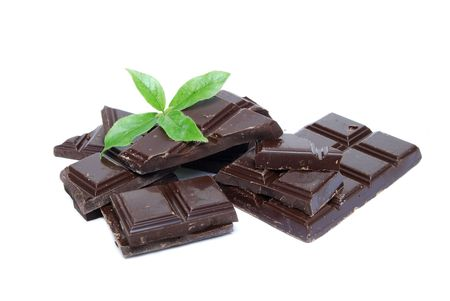 chocolate candy with mint Stock Photo