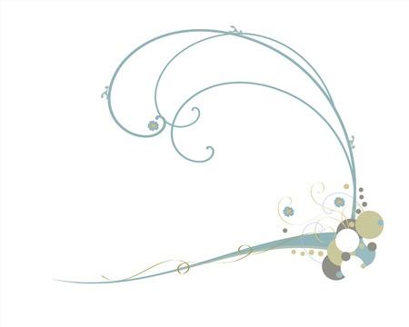 vector floral swirls