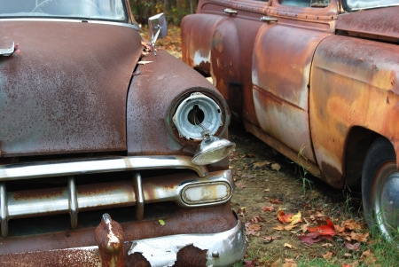 restoration: old classic cars left to rust